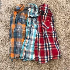 set of 3 plaid shirts